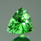triangular garnet green color natural noheat not treated