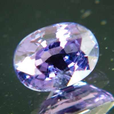 Violet purple blue Ceylon spinel