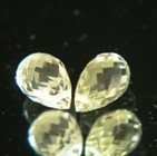 Diamond yellow pair of Ceylon sapphire