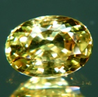 stunning oval shape untreated yellow sapphire