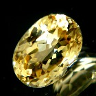 brilliant imperial topaz from Brazil, unheated and natural, no window, no inclusions