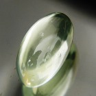 white sheen in long crested cabochon yellow green moonstone untreated natural from Sri Lanka