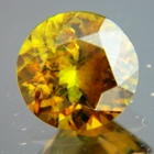 Rainbow green yellow African sphene