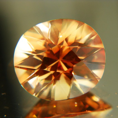 Yellow orange Oregon sunstone copper bearing GIA certified