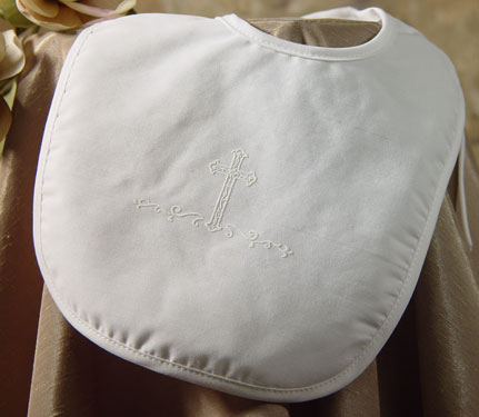 Boys Polycotton Bib W/Screened Cross