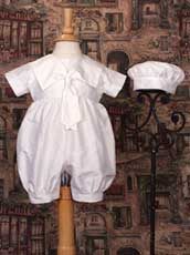 Silk Nautical Themed Knicker Christening Outfit