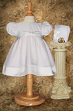 White Organza & Satin Dress