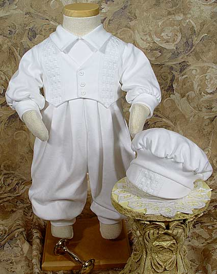 Long White Boys Celebration Set W/Hat