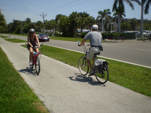 Sanibel bike path