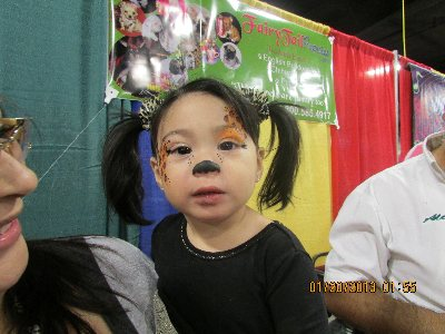 Makenzie having fun at the Kids Expo