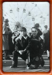 Peter & Philip at Coney Island 1957