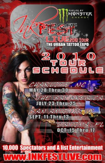 Mezonic will be performing at this event.  May 28 thru 30 2010 at the Cabarrus Arena 4551 Old Airport Road, Concord, NC 28025 For tickets, go to www.inkfestlive.com