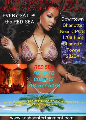 Come party with us every saturday at the RED SEA!