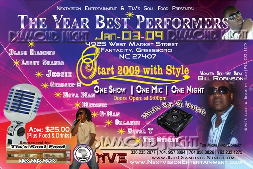 Mezonic, Black Diamond, and others will be performing at this event.  Come show your support!!