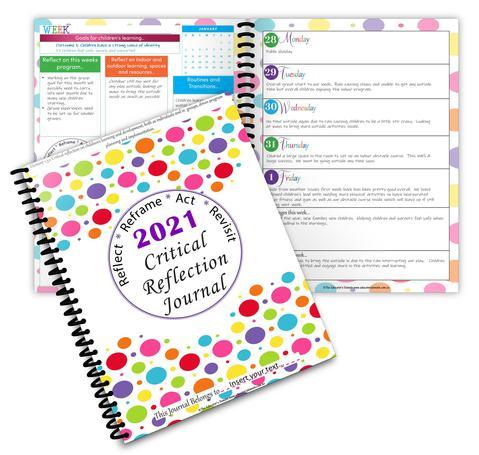 2021 Critical Reflection Journal Screenshot