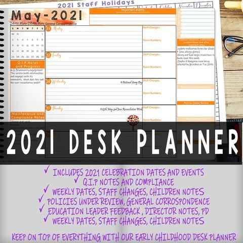 2021 Weekly Desk Planner Screenshot