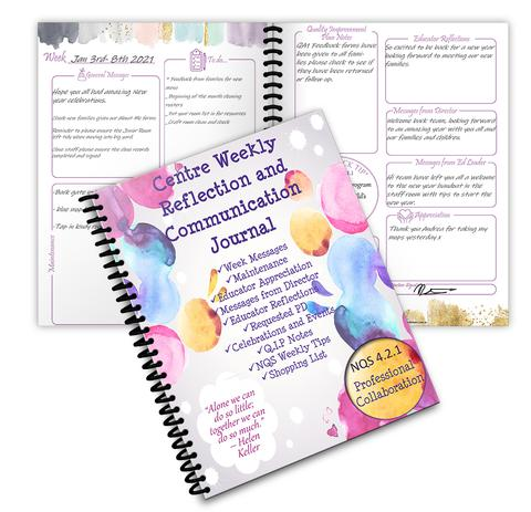 Weekly Centre Reflection and Communication Journal