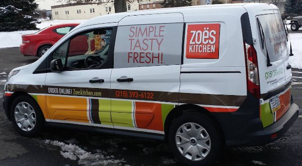zoes kitchen van wrap