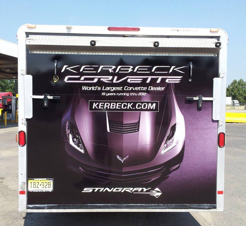 Full Trailer Wrap for Kerbeck Corvette