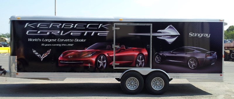 Full Trailer Wrap for Kerbeck Corvette