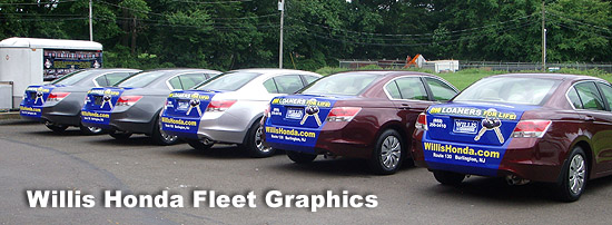 Willis Honda Apple Graphics Vehicle Wraps Philadelphia