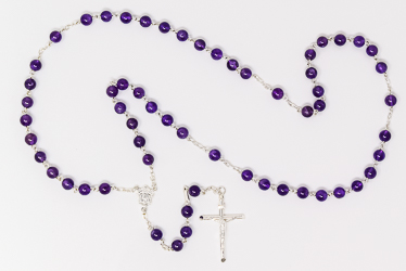 Miraculous Amethyst Rosary Necklace.