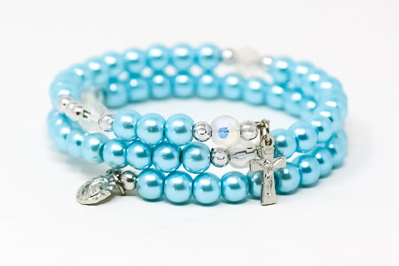 Miraculous Memory Wire Rosary Bracelet