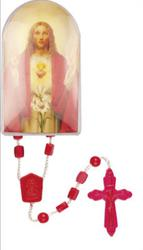 Sacred Heart of Jesus Rosary in a Perspex Box.