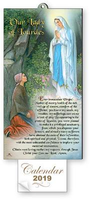2019 Lourdes Apparition Calendar.
