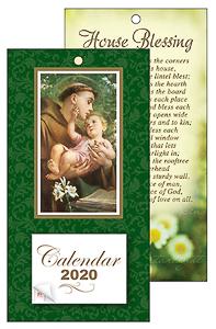 2020 St. Anthony Standing Calendar.