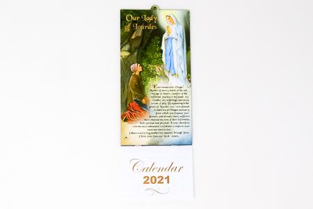 2021 Lourdes Apparition Calendar.