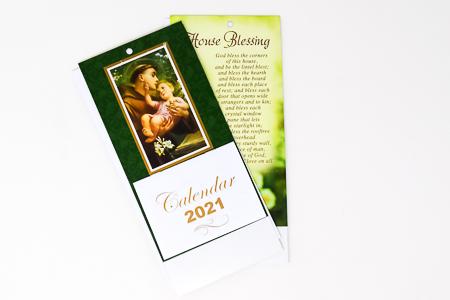 2021 St. Anthony Standing Calendar.