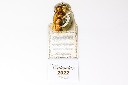 2022 Calendar Holy Family.