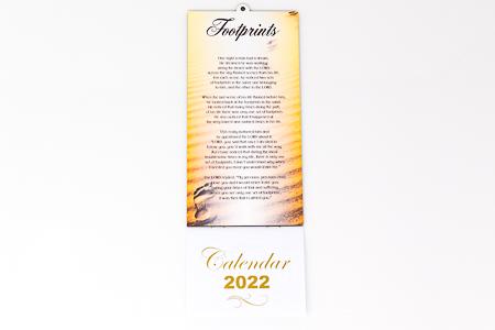 2022 Footprints Praying Calendar.