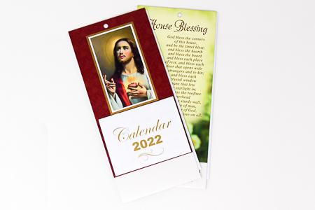 2022 Sacred Heart of Jesus Standing Calendar.