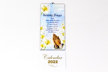 2022 Serenity with Praying Hands Calendar.