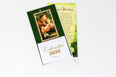 2022 St. Anthony Standing Calendar.