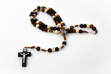 Apparition Wooden Rosary Beads.