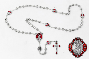 Divine Mercy Metal Rosary