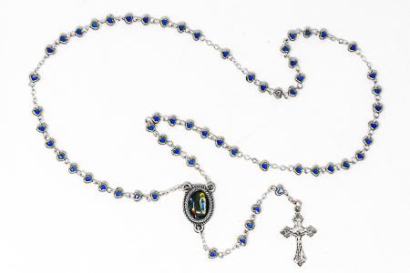 Lourdes Heart Rosary Beads.
