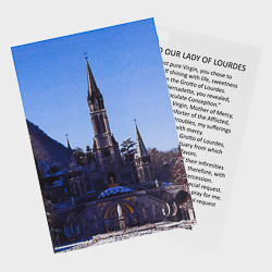 Lourdes Sanctuary Prayer Card.