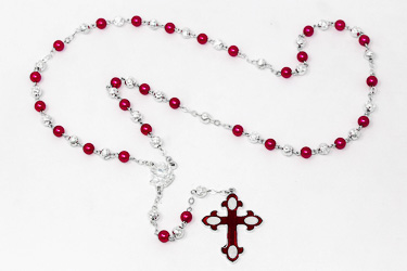 Red Rose Rosary Beads.