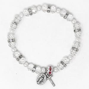 Black Miraculous Rosary Bracelet.