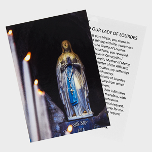 Our Lady of Lourdes Prayer Card.