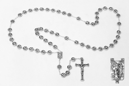 Our Lady of Lourdes & Apparition All Metal Rosary