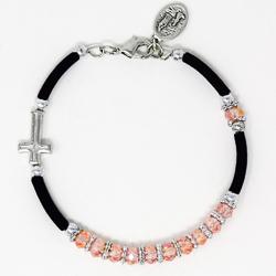 Pink Crystal Rosary Bracelet.