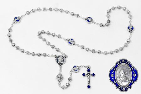 St. Pio Metal Rosary
