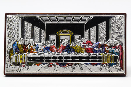 Last Supper Plaque - Silver Plated.