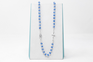 925 5 Decade Rosary Necklace.