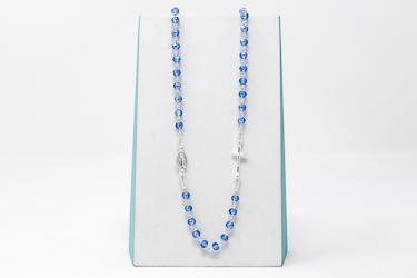 925 5 Decade Rosary Necklace.